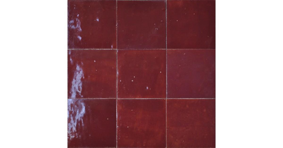 mar zellige n19 rouge lie de vin 10x10x1 ceramico. Black Bedroom Furniture Sets. Home Design Ideas